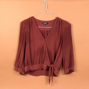 Madewell cropped wrap top